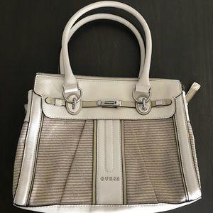 Guess Adelisa small satchel bag White color combo
